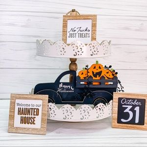 Halloween signs and truck tray bundle farmhouse f6